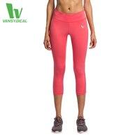 Kadınlar Için Yoga Spor Tayt Spor Sıkı Örgü Yoga Tozluk Egzersiz Sıkıştırma Pantolon Kadın Tayt Çalışan Femnale 3/4 uzunluk
