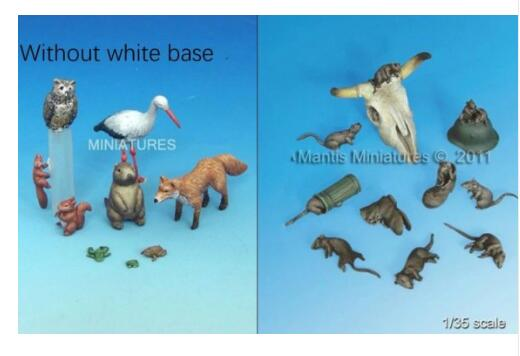 Assembly Unpainted Scale 1/35Small Animals & Mice Historical toy Resin Model Miniature Kit mr froger carcharodon megalodon model giant tooth shark sphyrna aquatic creatures wild animals zoo modeling plastic sea lift toy