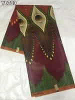 Preço maravilhoso material do vestido de tecido cera ancara nigeriano top vendendo africano verdadeiro tecido cera de impressão para costura YL789
