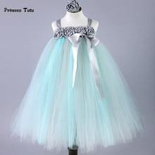Handmade Girl Princess Tutu Dress Baby Tulle Wedding Flower Girl Dress Kids Pageant Birthday Bridesmaid Party