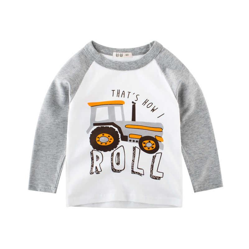 Cartoon Stijl Lange Mouw Kinderen T-shirts 2019 Herfst Meisjes & Jongens Katoen Tops Tees Kleding Kids Sweatshirts Voor Jongens