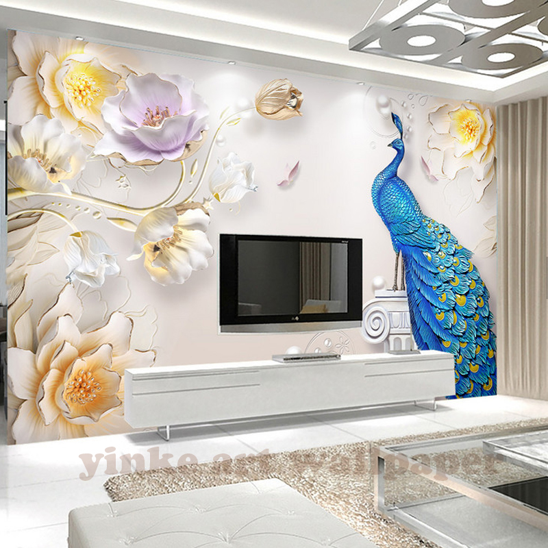 3d photo wallpaper stereoscopic relief european backdrop for Mural 3d simple