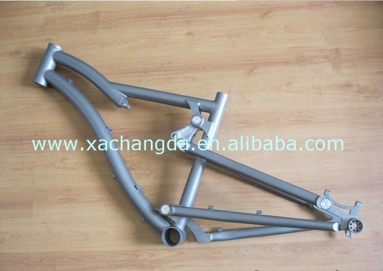 Bicycle-Frameset Titanium Ti-Suspension Moutain New-Design with Sandblasting Finished
