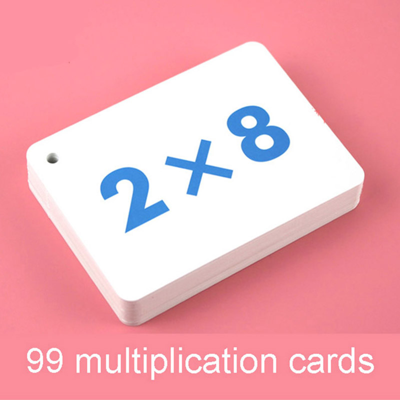 45Pcs/Set 99 Multiplication Division Flash Cards Mathematics Learning Math Card Mouth Table Educational Toys Kids Montessori