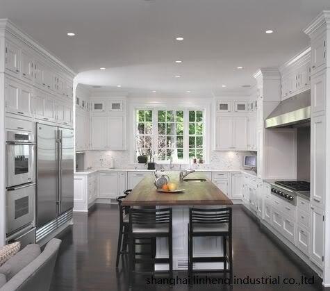 solid wood kitchen cabinet(LH-SW096) classic oak wood kitchen cabinet lh sw027