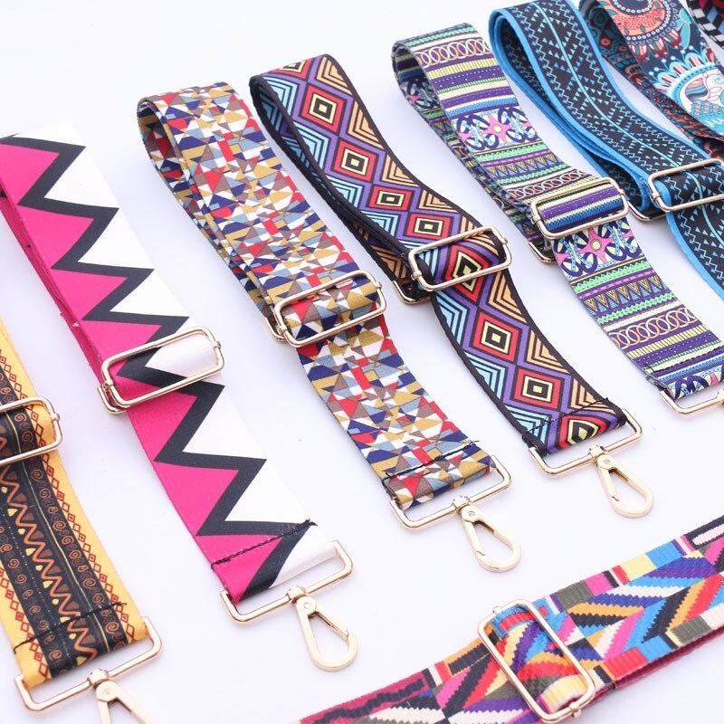 Fashion Women Bag's Strap Famous Designer Brand  Adjustable Shoulder Strap Messenger Bag Colorful Strap For Women 110cm