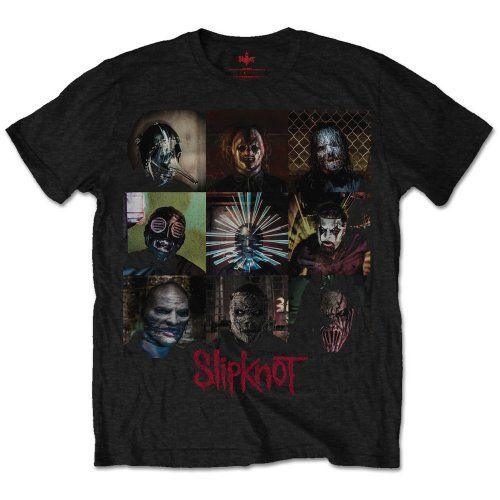 SLIPKNOT Blocks T-SHIRT - Nuevo y Oficial Men Cotton T-Shirt Printed T Shirt top tee MenS O-Neck Printed Tee Shirt