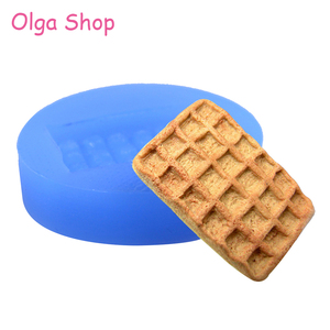 QYL142 26mm Waffer Wafer Cookie Mold - Waffle Biscuit Mold Candy Chocolate Fondant Resin Polymer Clay Pendant Jewelry Handmade