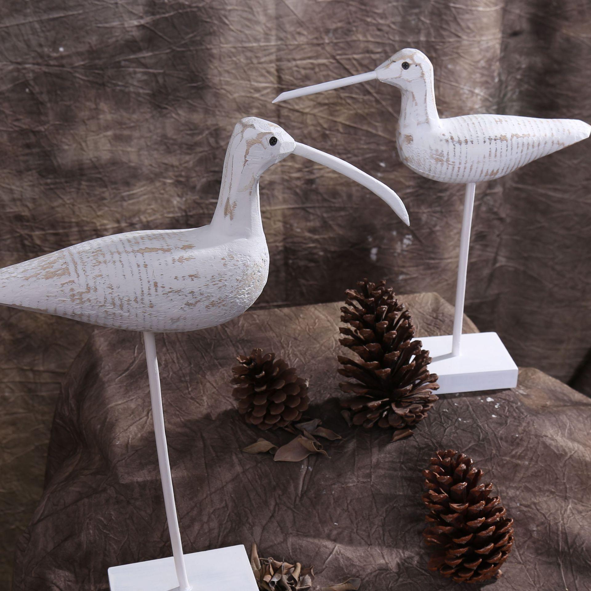 Mediterranean Style Wooden Birds Decorative Home