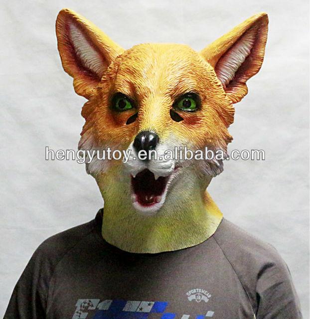 2016 erwachsene Größe Lebendige Gummi Fuchs Maske für Halloween Neue ...