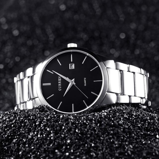 Curren homens relógios top marca de luxo masculino data de exibição do relógio de aço cheio de moda relógio de quartzo-relógio dos homens de negócios reloj hombre