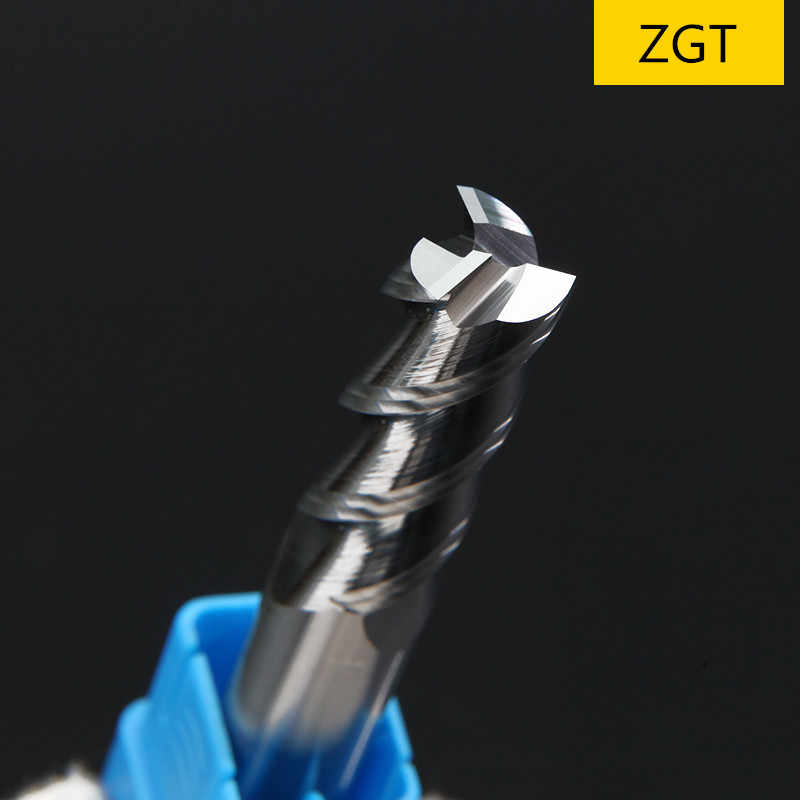 ZGT Cnc Milling Tools Milling Cutter HRC50 3 Flute Aluminum Copper Wood Metal Cutter Carbide End Mill 1mm 2mm 3mm 4mm 5mm 6mm