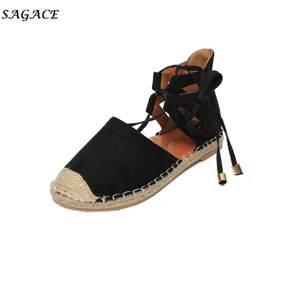 Mujer Chaude Fille Plat Bride Cheville Loisirs Vente Chaussures Sagace Plage Zapatos À Fond La Sandales Brown Lacent black Femme awIfS