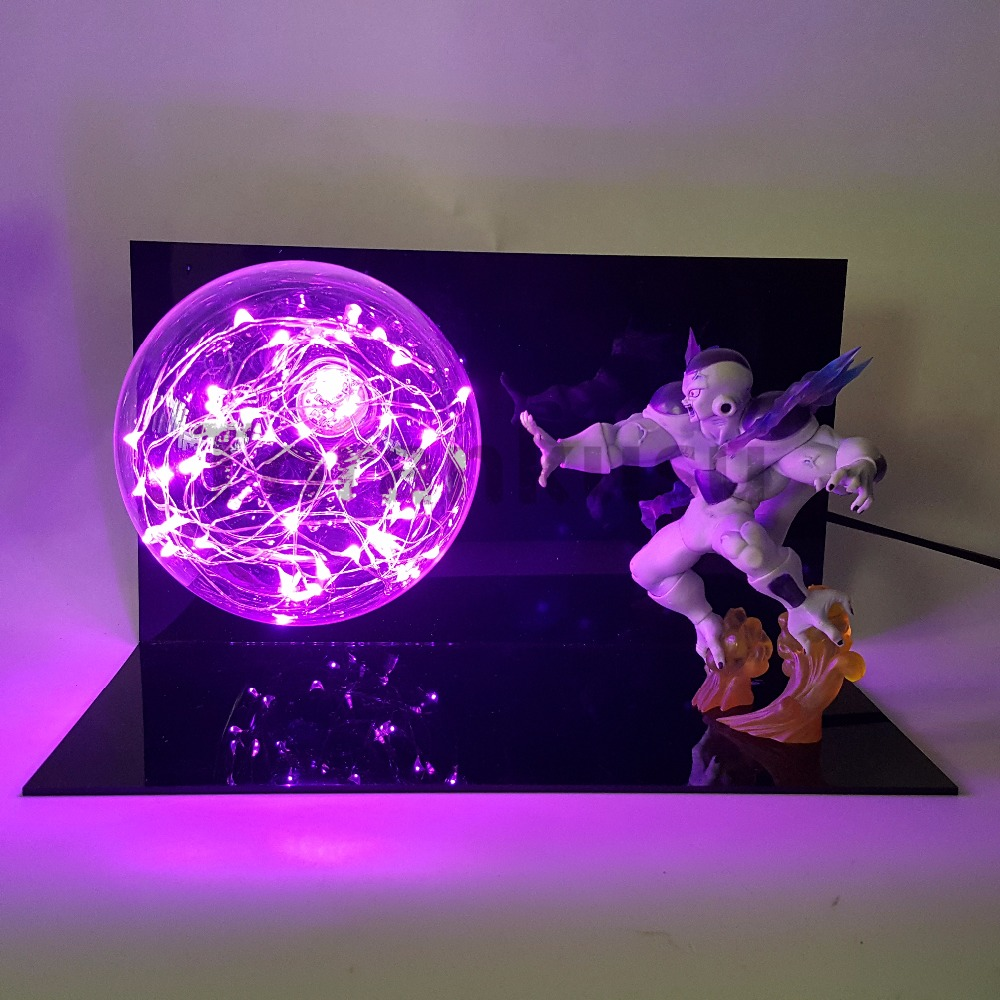 Dragon Ball Z Freeza PVC DIY Led Bulb Anime Dragon Ball Z Figurine Model Toys Esferas Del Dragon DBZ Frieza dragon ball z shenron pvc figure figuras dbz dragon ball z model toy esferas del dragon 7pcs pvc balls shelf dragonball doll