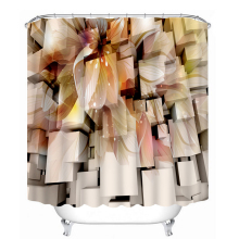 3d Shower Curtains Golden Morning Glory Pattern Bathroom Curtain Waterproof Thickened Bath Customizable