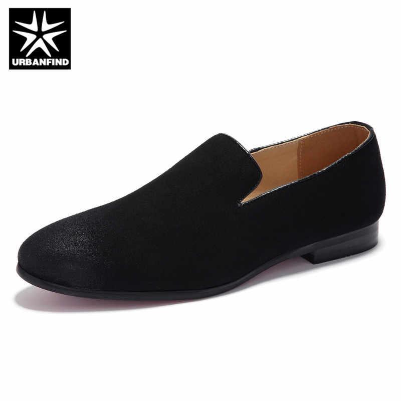 URBANFIND Slip Op Schoenen Mannen Zwart 2019 Mocassins Solid Soft Heren Schoenen Casual Loafers Grote Maten Mode Ademend Blauw Suede