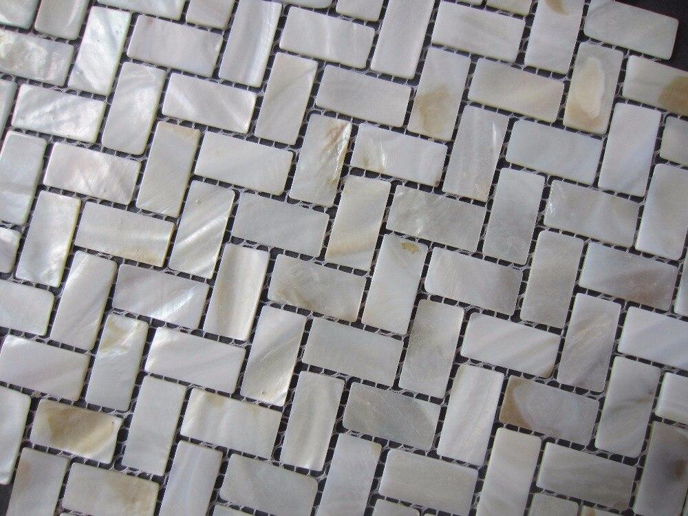 Nuovo mosaico piastrella; 15x30 mm madre di pearl tiles naturale
