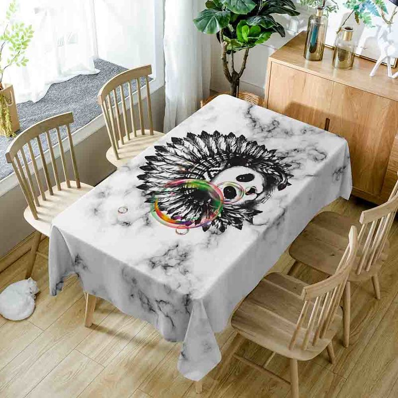 Europe Style Sea Scenic Pattern Tablecloth Polyester Oilproof Table Cloth Nappe Dining Table Cover Wedding Hotel Home Decor D37