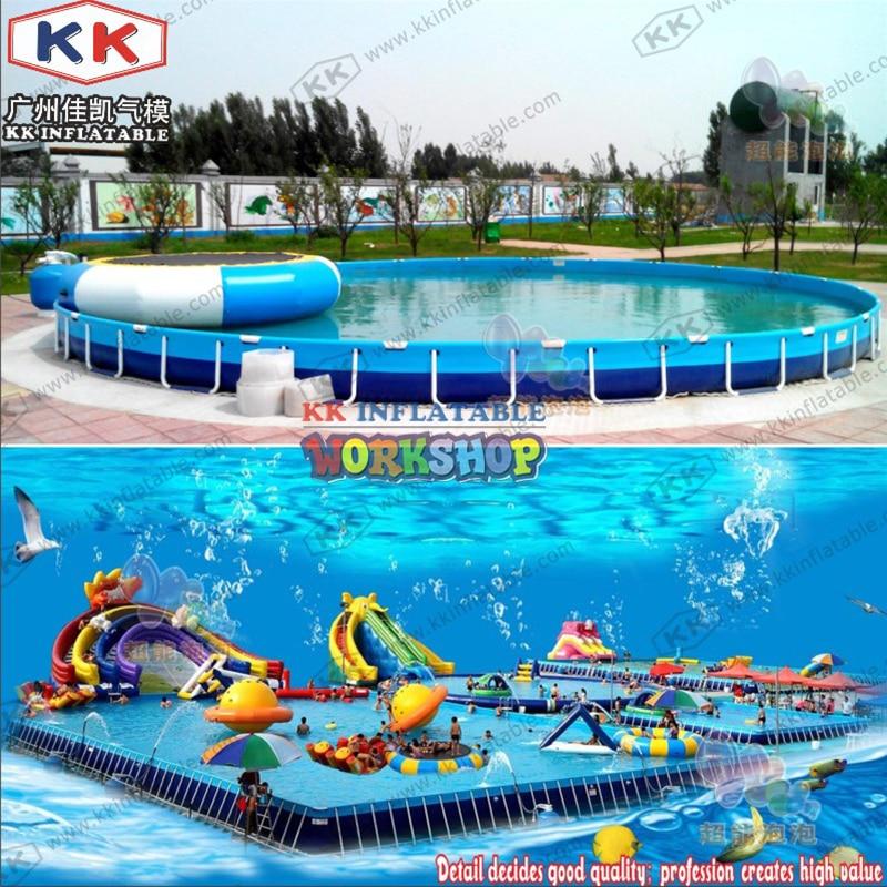 KK Portable 0.9mm PVC Frame Round Swimming Pool