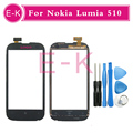 Original For Nokia Lumia 510 Touch Screen Digitizer Sensor Front Glass Lens + Free Tools Free Shipping