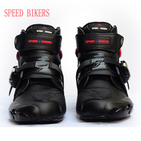 2018 Men Pro biker boots motorcycle racing boots women motocross riding shoes size 40 47 black A9003