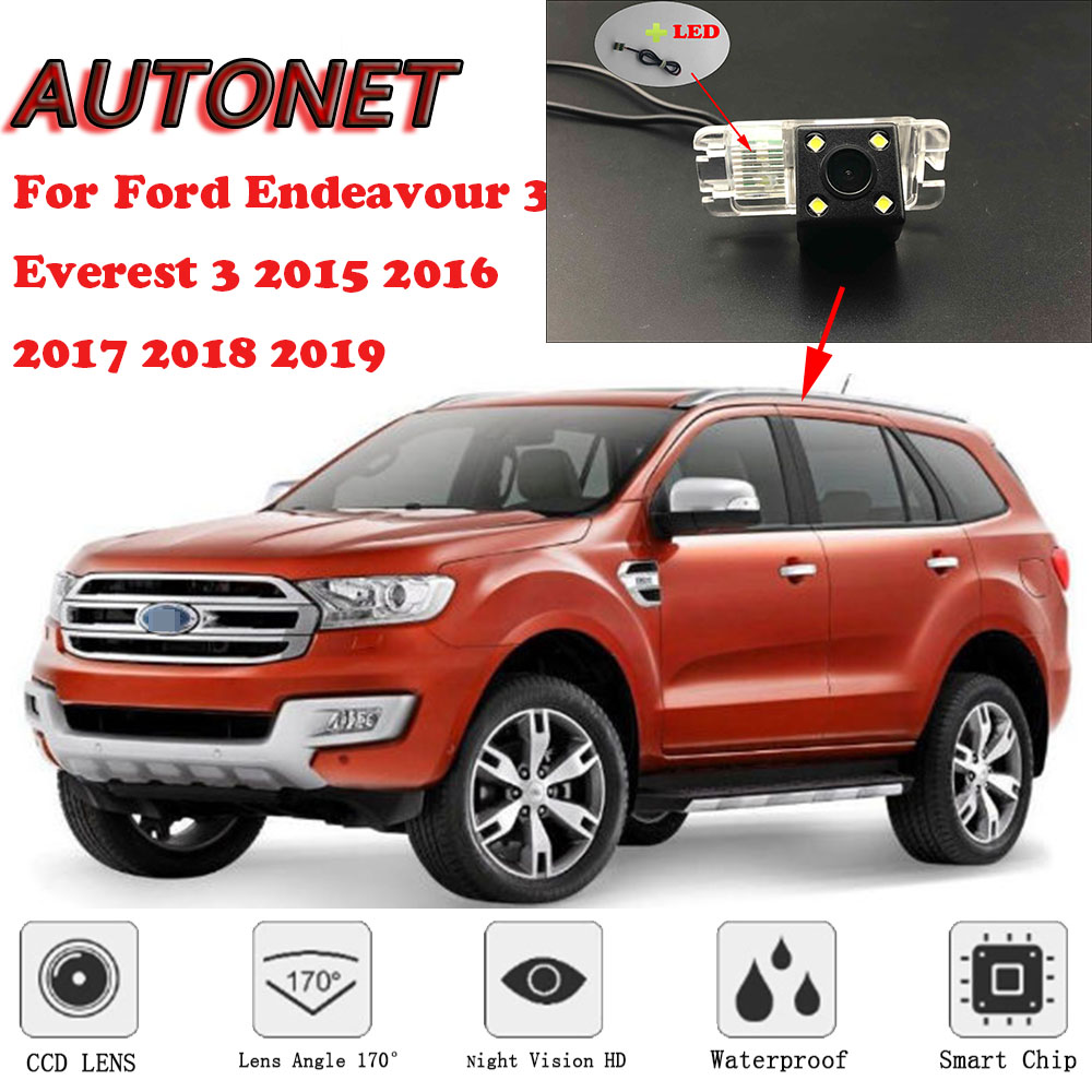 AUTONET Backup Rear View Camera For Ford Endeavour 3 Everest 3 2015 2016 2017 2018 2019 Night Vision/parking Camera Or Bracket