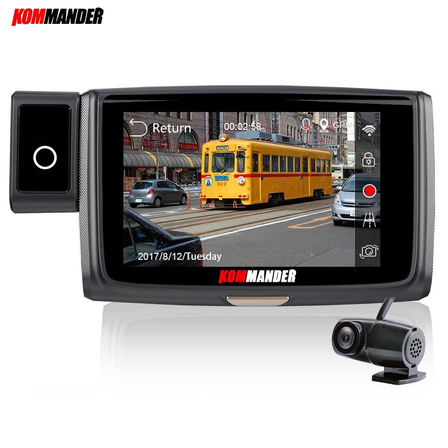 Kommander Auto DVR con WIFI Dual Lens DAVVERO 1080 P Sony290 Sensore di Visione Notturna Video Recorder e ADAS, di monitoraggio di parcheggio, WDR