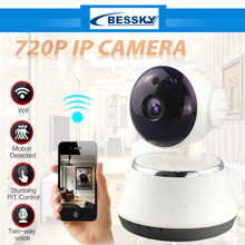 Bessky Home Security IP Camera Wireless WiFi Camera Surveillance Camera 720P Night Vision CCTV Camera Baby Monitor BE-IPH10WD