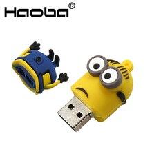 Minions usb flash drive 32GB usb2.0 64GB 128GB pendrive 4GB 8GB 16GB