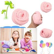 Effen kleur kristal klei speelgoed modder creatieve slime pluizige putty kinderen intelligente modellering klei speelgoed ideale kunst ambachtelijke diy tool