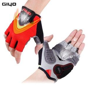 Image 2 - GIYO Summer Cycling Gloves Gel Half Finger Shockproof Sport Gym Gloves MTB Mountain Bicycle Bike Gloves For Men/women Antil skip