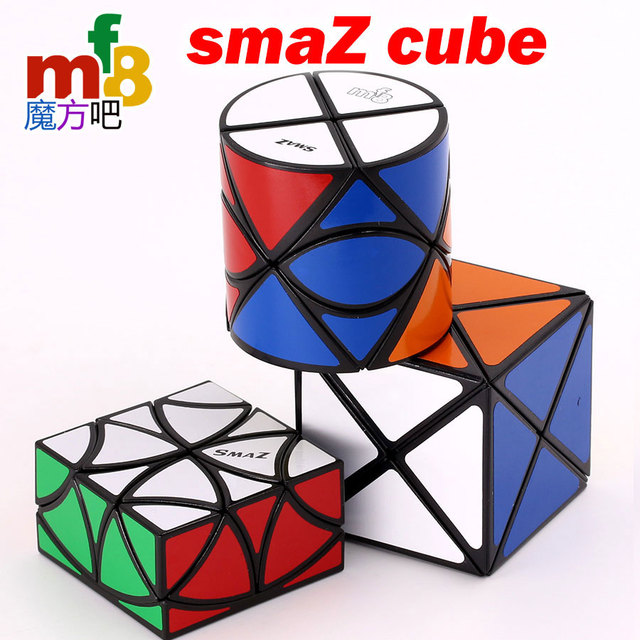 Magic Cube puzzle mf8 SmaZ 8 Axis Cylindrical Cylinder Dino2x2 SmaZ 8 Axis cube Dino truncate cube halve Curvy Copter Butterfly