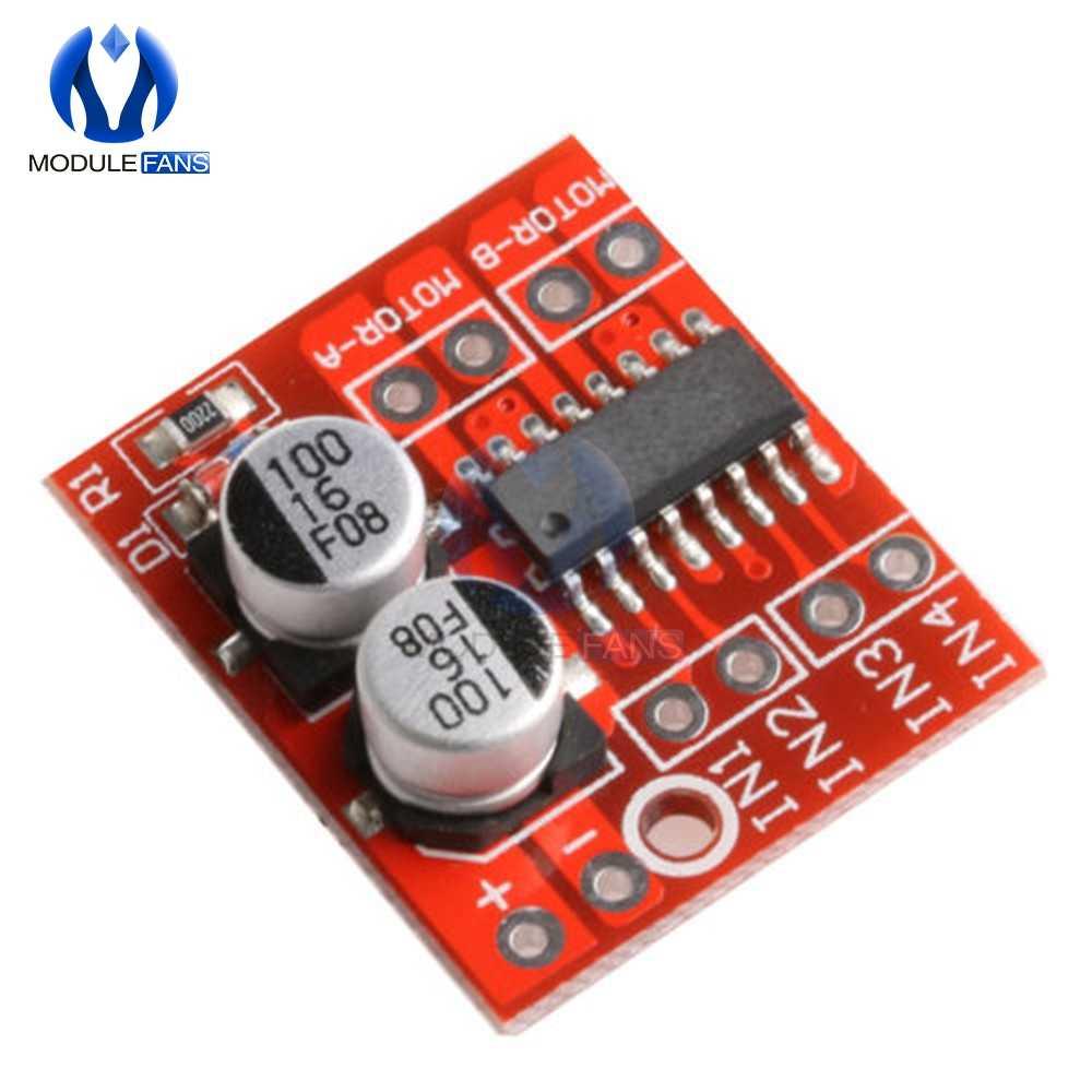 L298N L9110 1.5A 2.5A DOIS 2 way DC Módulo da Unidade de Velocidade PWM Dual-Ponte H Driver de Motor de Passo Bordo FIO 4 MOS Interruptor