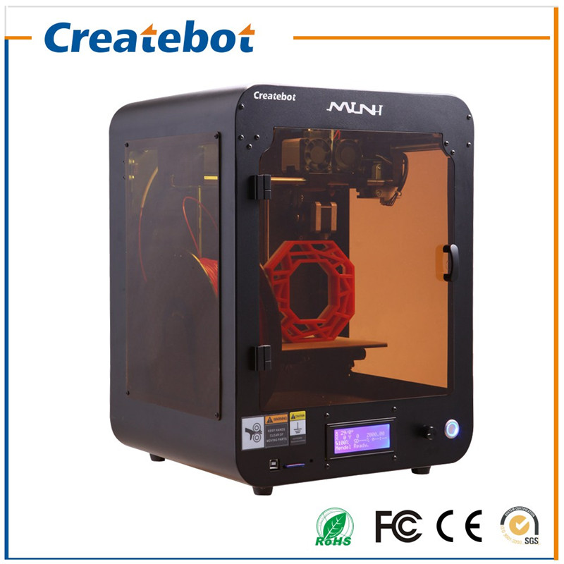 New Product 150*150*220mm Createbot Black Mini 3D Printer with Most Affordable Price but High Quality and Accuracy