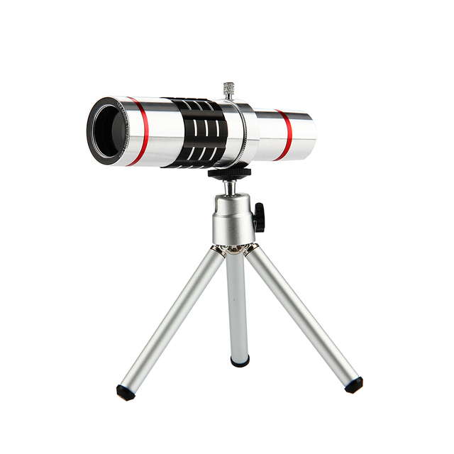 ET 18x Zoom Optical Telescope Telephoto Lens with Tripod Clip Kit Universal Phone Camera Lens