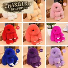 15 Colors Children's Toys Loaded Dead Rabbit Mink Fur Cute Rabbit Boy Girl Rabbit Pendant Backpack Bag Accessories(China)