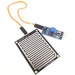 10 set/lote kit módulo de detecção de gotas de chuva de água do sensor de chuva para arduino