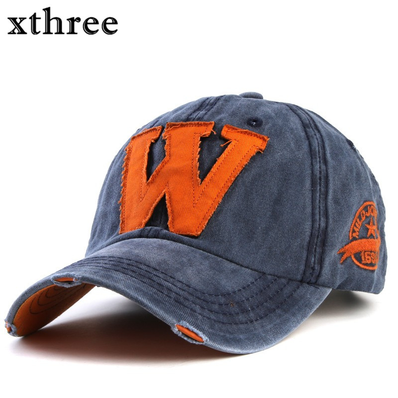 Xthree hot cotton embroidery letter W baseball cap snapback caps fitted bone casquette hat for men custom hats xthree fashion baseball cap summer snapback hat letter embroidery casquette hat for men women cap wholesale