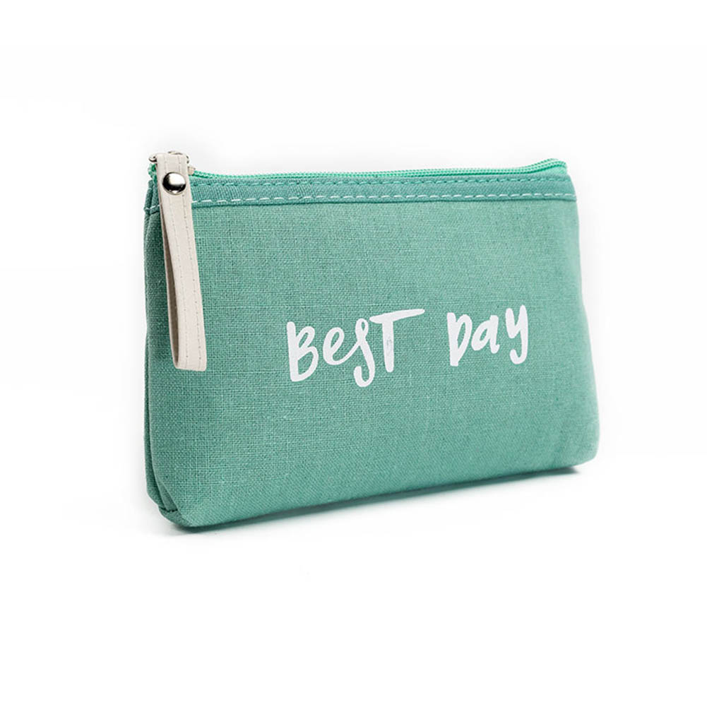 Portable Women Makeup Bags Canvas Letters Printing Cosmetics Travel Lady Pouch Cosmetic Bag Make Up Case WML99 aosbos fashion portable insulated canvas lunch bag thermal food picnic lunch bags for women kids men cooler lunch box bag tote