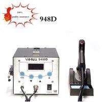 Бесплатная deliveYIHUA 948D паяльная станция высокой частоты паяльник отсос с ручкой 3 в 1 паяльная станция