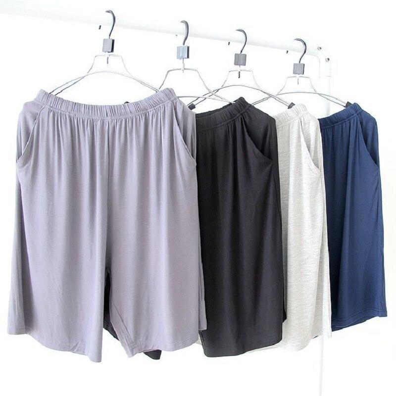 Plus Size Sleep Lounge Pants Men Pajamas Bottoms Modal Summer Shorts Sandbeach Casual Wear Pijama Hombre Couples Sleepwear 110kg