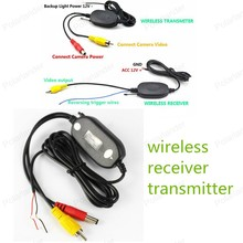Top Sell 2.4GHZ Wireless Car VideoTransmitter Receiver Kit for Auto Monitor Rear View Camera Reverse Back up