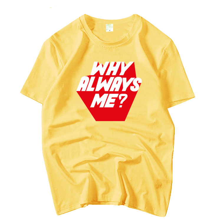 Kpop Exo Suho Same Why Always Me Printing O Neck Short Sleeve T Shirt Summer Unisex Funny Loose T-shirt Lovers Top Tees 5 Colors