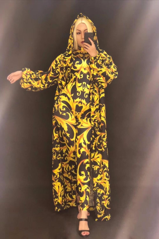 Sexy Temps Spectacle Stage Body And Imprimé Porter 3d Totem Manteau Bling Coat Jumpsuit Or jumpsuit Costume Nightclub Chanteur Danseur Stade Salopette amp; Femmes dxZqawFSd