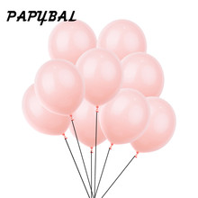 10pcs 12inch 3.2g Peach Pastel Latex Balloons Pack Wedding Balloons Baby Shower Birthday Party Decoration Party Balloon Supplies