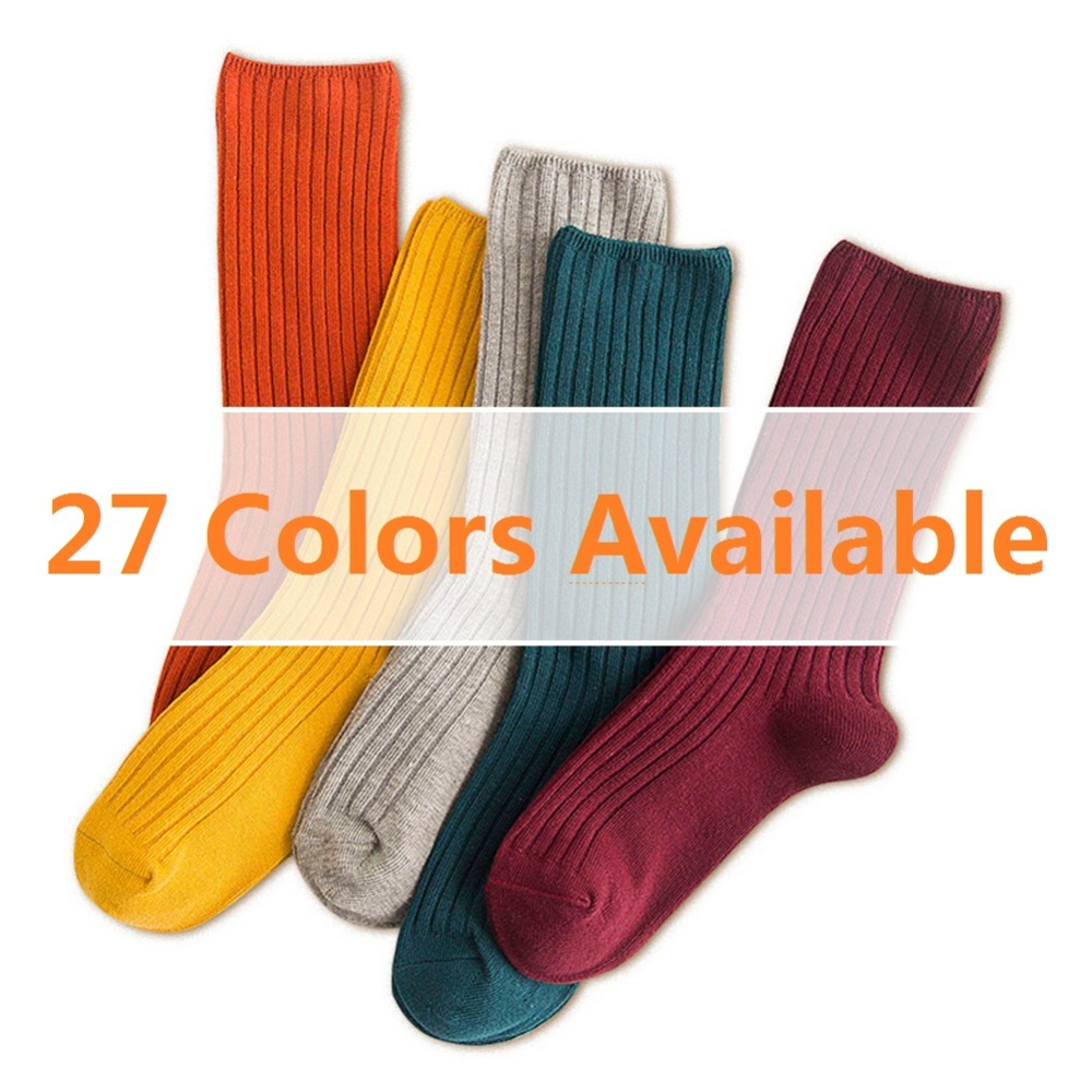 1 Pair Unisex Solid Women   Sock   Breathable Cotton Skateboard   Sock   Multi-Color Hot Sale Female Men Comfortable Mid-Length   Socks
