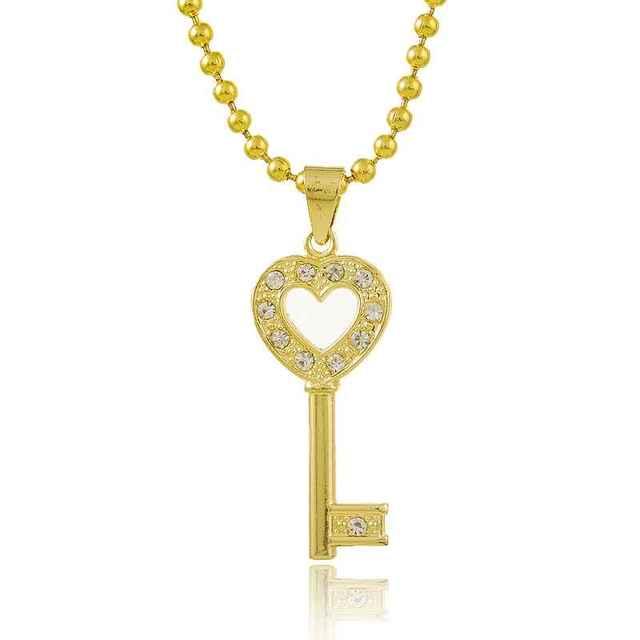 Envío Gratis 2016 Precioso 24 k chapado en oro collar de las mujeres de bloqueo abridor de exhibición de la joyería colar maxi YHDN131