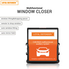 For Accord/Spirior/Odyssey/Elysion auto window close+mirror fold+sunroof close+speed lock 12V power window kit