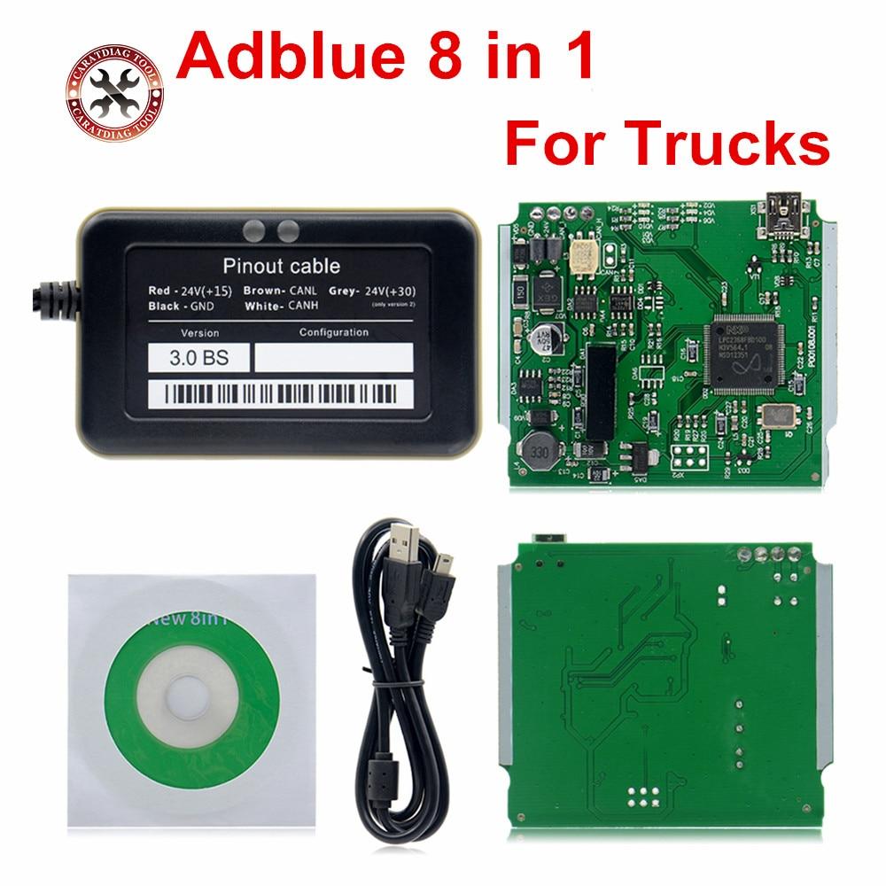 2018 A ++ поддержка качества euro 6 Профессиональный Adblue 8 в 1 эмулятор AdBlue V3.0 с датчиком NOx Бесплатная доставка