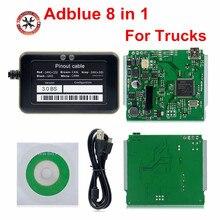2018 + + איכות תמיכה אירו 6 מקצועי Adblue 8in1 8 ב 1 AdBlue אמולטור V3.0 עם NOx חיישן משלוח חינם